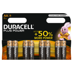 Batteries Duracell Plus Power AA x 8