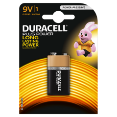 Battery Duracell Plus Power 9 V x 1