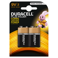Battery alcalinDuracell Plus Power 9 V x 2