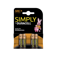 Piles Duracell Simply AAA/LR03 X4