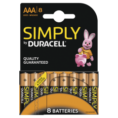 Batteries Duracell Simply AAA x 8