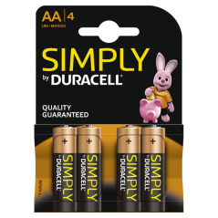 Batteries Duracell Simply AA x 8