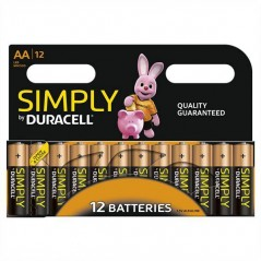 Batteries Duracell Simply AA x 12
