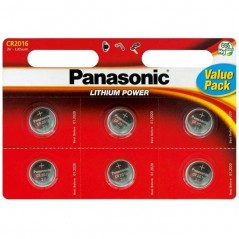 Piles Lithium PANASONIC CR2016 x 6