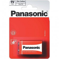 Battery PANASONIC Zinc 9 V x 1