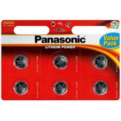 Piles Lithium PANASONIC CR2025 x 6