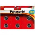 Batteries Lithium PANASONIC CR2032 x 6