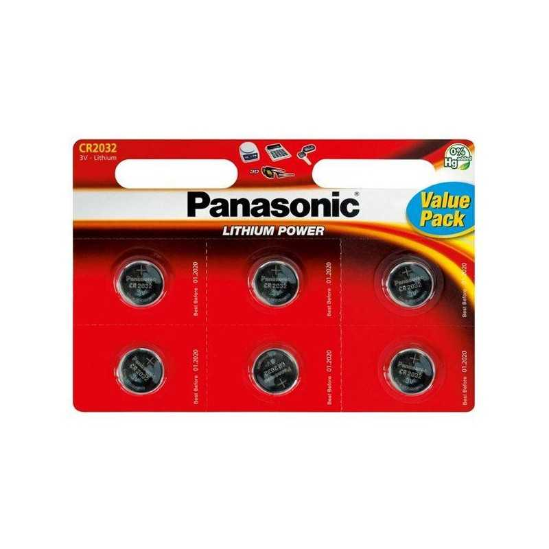 Batteries Lithium PANASONIC CR2032 x 6