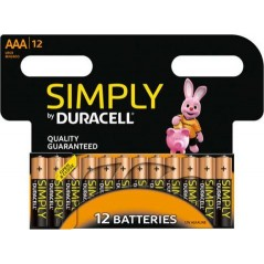 Piles Duracell Simply AAA/LR03 x 12