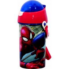 Spider-man botella automática Marvel 500 ML, sistema antigoteo SYSTEM