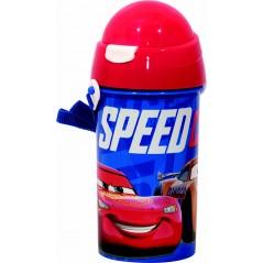 Cars Disney botella automática 500 ML, sistema antigoteo SYSTEM