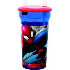 Marvel Spider-Man straw glass