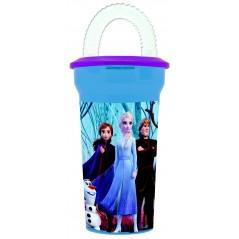 Bicchiere di paglia Frozen 2