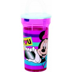 Minnie Disney straw glass