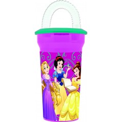 Princess Disney straw glass