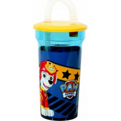 Paw Patrol straw glass