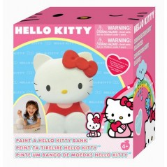 HELLO KITTY TIRELIRE A PEINDRE