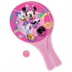 Minnie -Lot de 2 raquettes + balle
