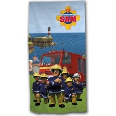 sam Fireman beach towel or bath towel