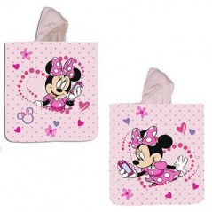 Minnie Disney Hooded Swim Poncho cotton