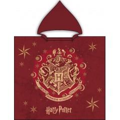 Badeponcho mit Kapuze aus Baumwolle von Harry Potter