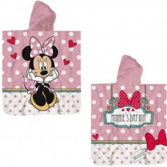Minnie Disney cotton hooded bath poncho