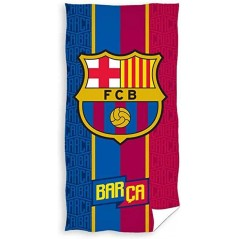 Cotton beach towel or bath towel FC Barcelone