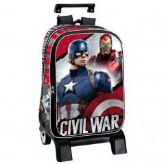 Sac à dos trolley Marvel Captain America- Qualité supérieure - 46 cm