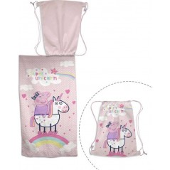Peppa Pig beach towel + Swimming bag