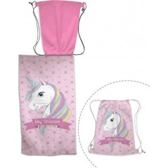 Unicorn beach towel + Swimming bag